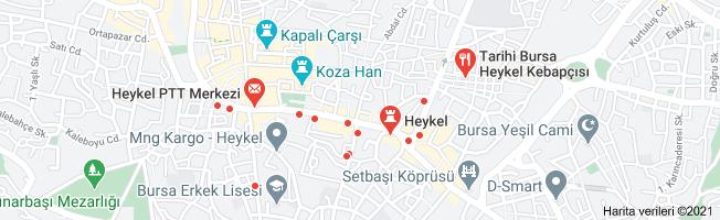 Bursa Heykel nerede haritası